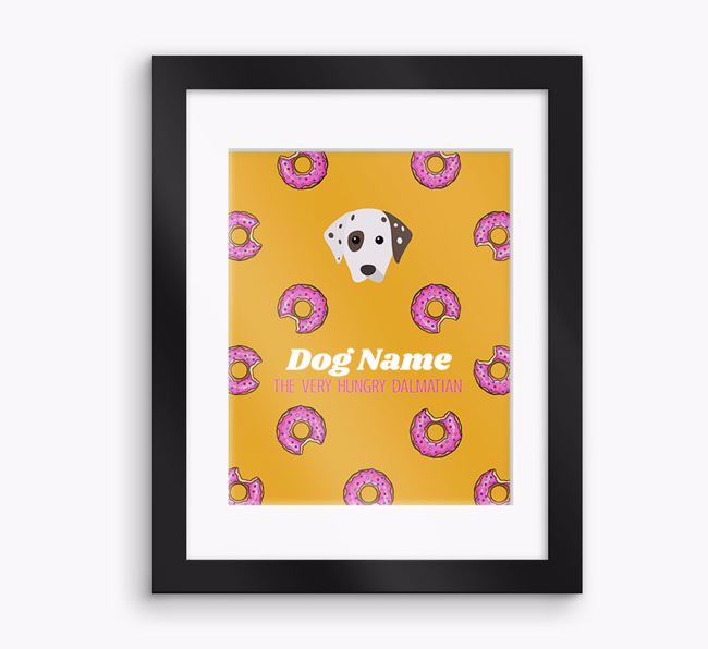 Personalised ' the very hungry Dalmatian' Framed Print