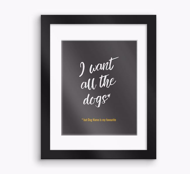 Personalised 'Favourite' Framed Print