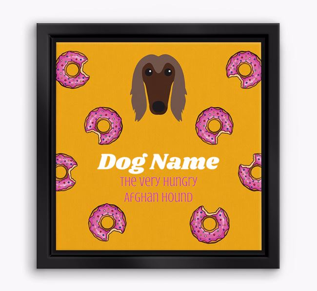 ' the hungry Afghan Hound' Boxed Canvas Print