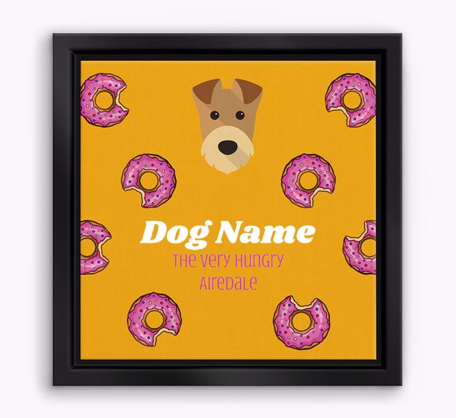 ' the hungry Airedale' Boxed Canvas Print