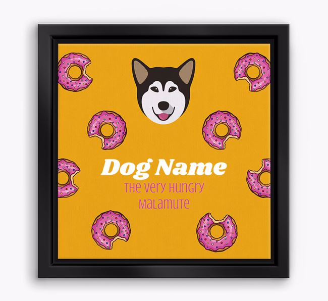 ' the hungry Malamute' Boxed Canvas Print