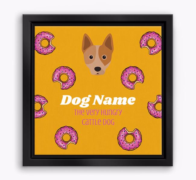 ' the hungry Cattle Dog' Boxed Canvas Print