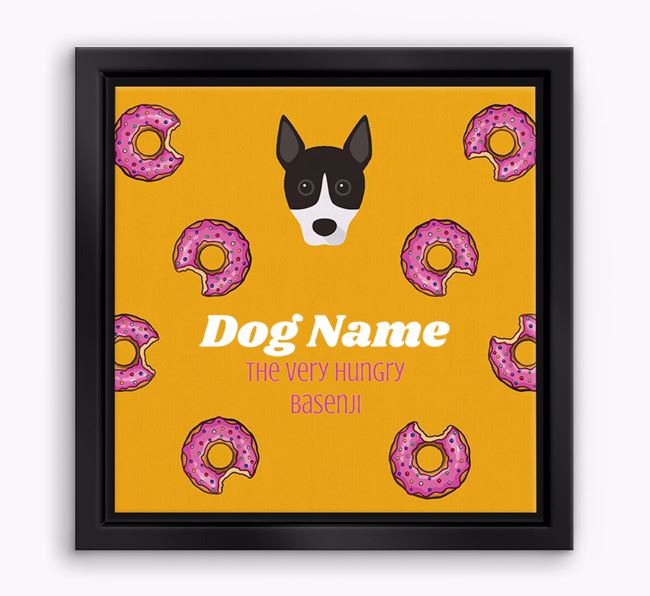 ' the hungry Basenji' Boxed Canvas Print