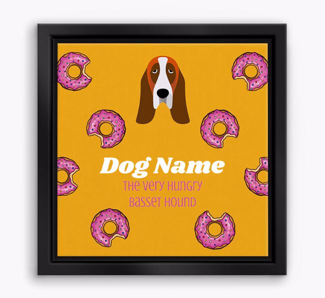 ' the hungry Basset Hound' Boxed Canvas Print