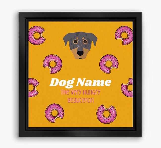' the hungry Beauceron' Boxed Canvas Print