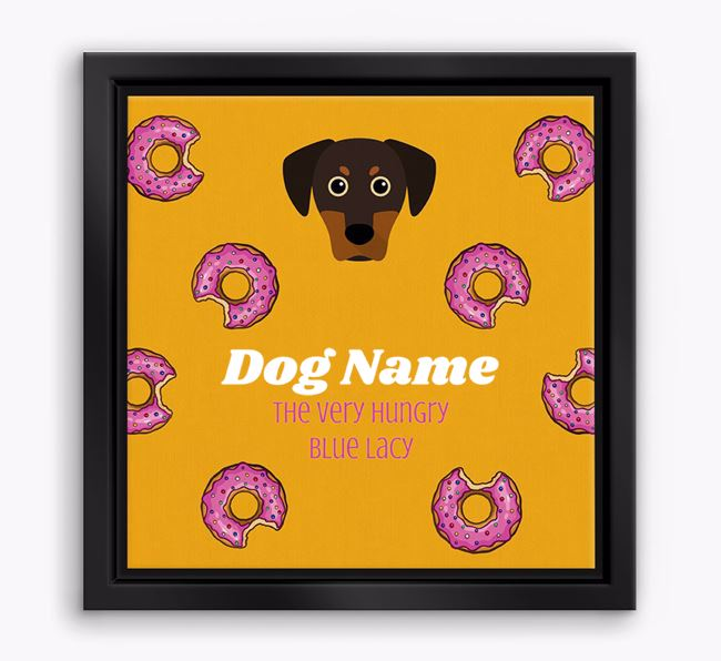 ' the hungry Blue Lacy' Boxed Canvas Print
