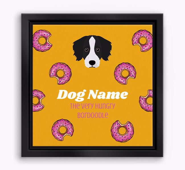 ' the hungry Bordoodle' Boxed Canvas Print