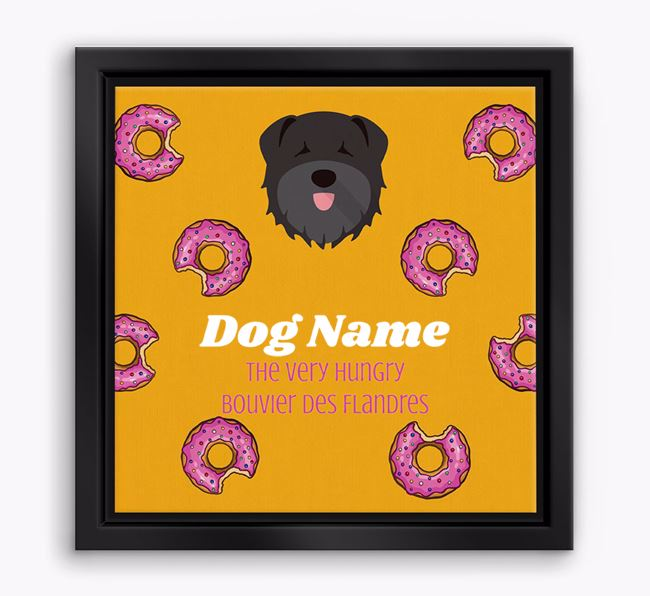 ' the hungry Bouvier Des Flandres' Boxed Canvas Print