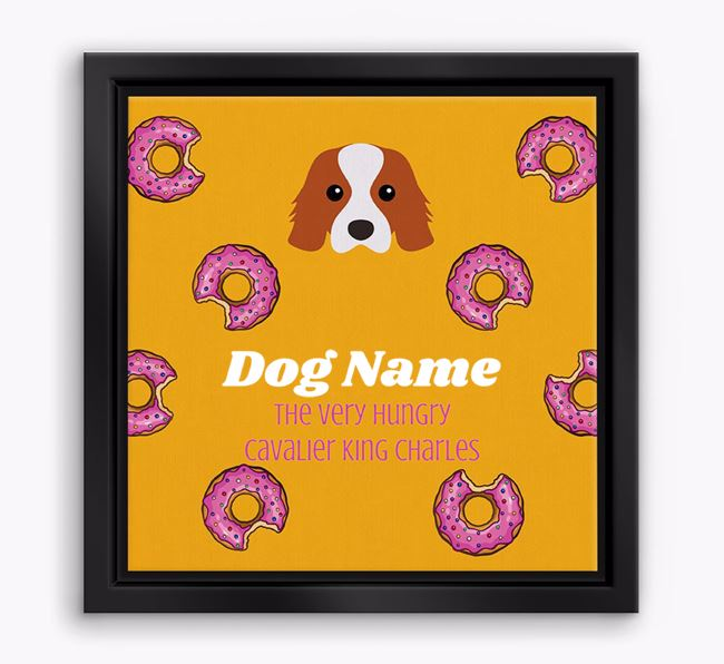 ' the hungry Cavalier King Charles' Boxed Canvas Print