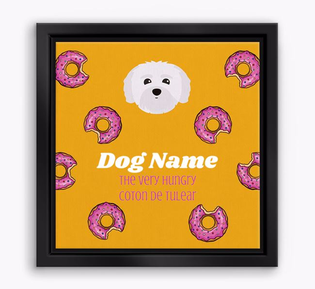 ' the hungry Coton De Tulear' Boxed Canvas Print