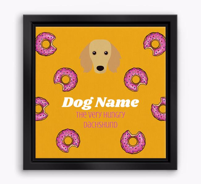 ' the hungry Dachshund' Boxed Canvas Print