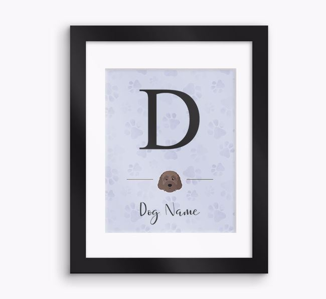 Personalised Initial Framed Print