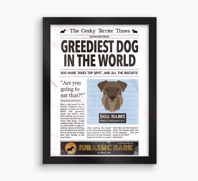 Personalised 'Newspaper' Framed Print