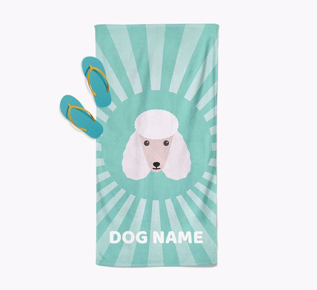 Personalised Pool Towel with Poodle Icon