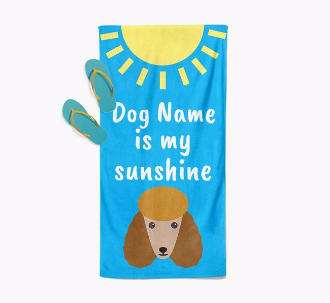 Personalised Pool Towel ' is my Sunshine'