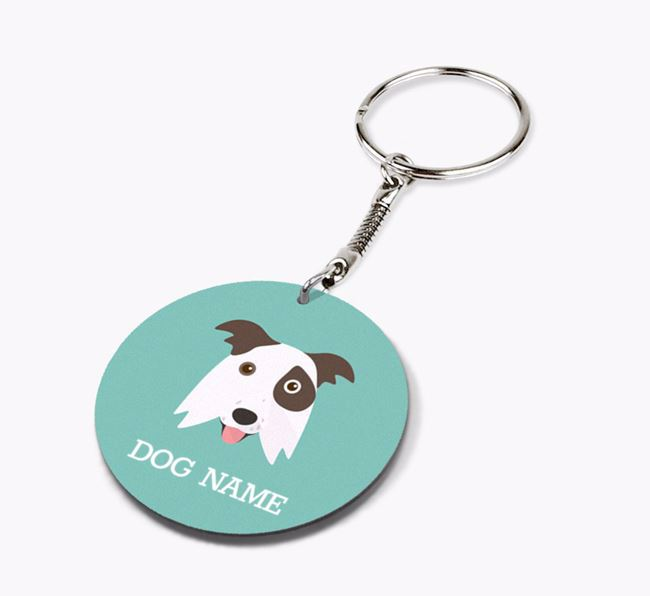 Personalised Border Collie Icon Keyring