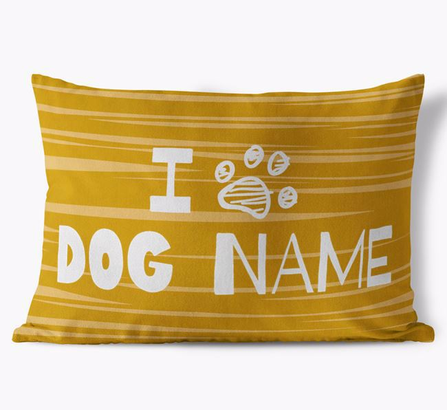Personalized Rectangular 'I Paw ' Pillow