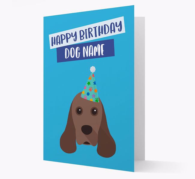 Personalised 'Happy Birthday ' Card with Cocker Spaniel Icon