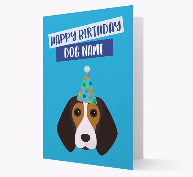 Personalised 'Happy Birthday ' Card with Beagle Icon