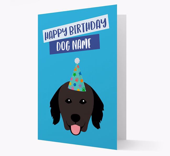 Personalized 'Happy Birthday ' Card with Hovawart Icon