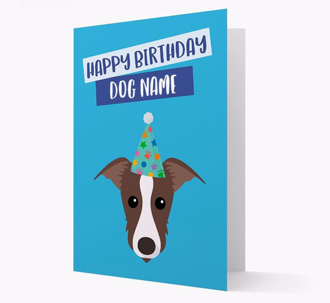 Personalized 'Happy Birthday ' Card with Lurcher Icon