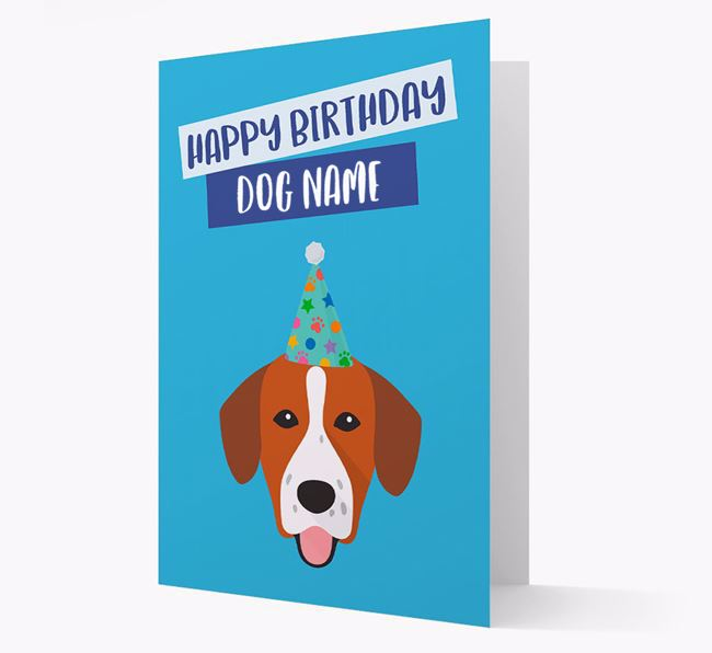 Personalised 'Happy Birthday ' Card with Springador Icon