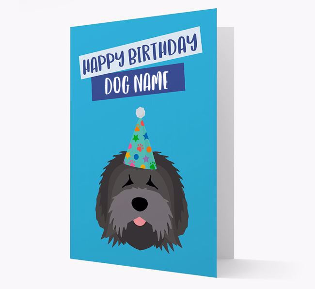 Personalized 'Happy Birthday ' Card with Tibetan Terrier Icon