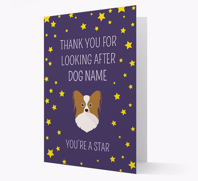 Personalized 'You're A Star' Thank You Card