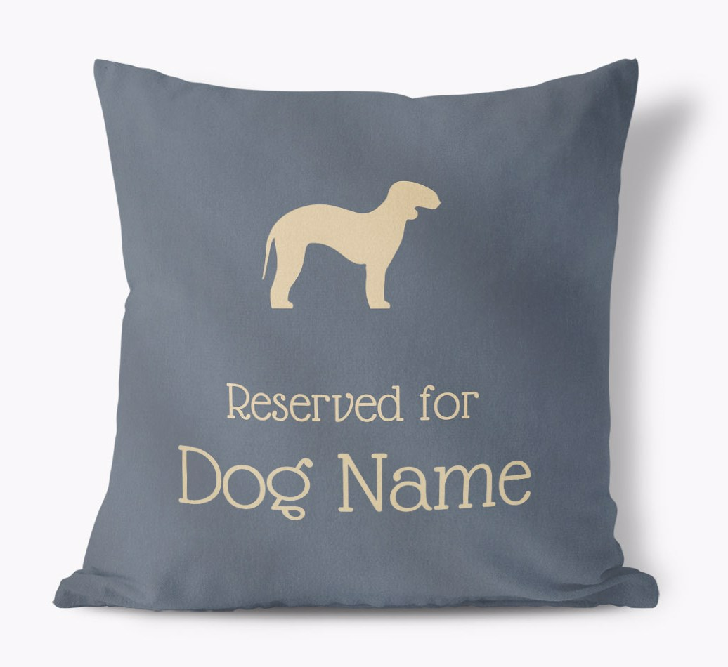 Reserved For {dogsName|your dog} Faux Suede Cushion