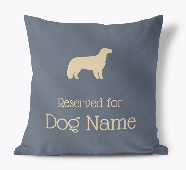 Reserved For  Faux Suede Pillow