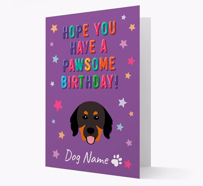 Personalised Card 'Hope You Have A Pawesome Birthday' with Hovawart Icon