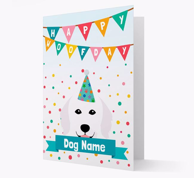 Personalized Card 'Happy Woofday ' with Kuvasz Icon