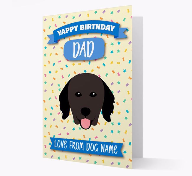 Personalized Card 'Yappy Birthday Dad' with Hovawart Icon