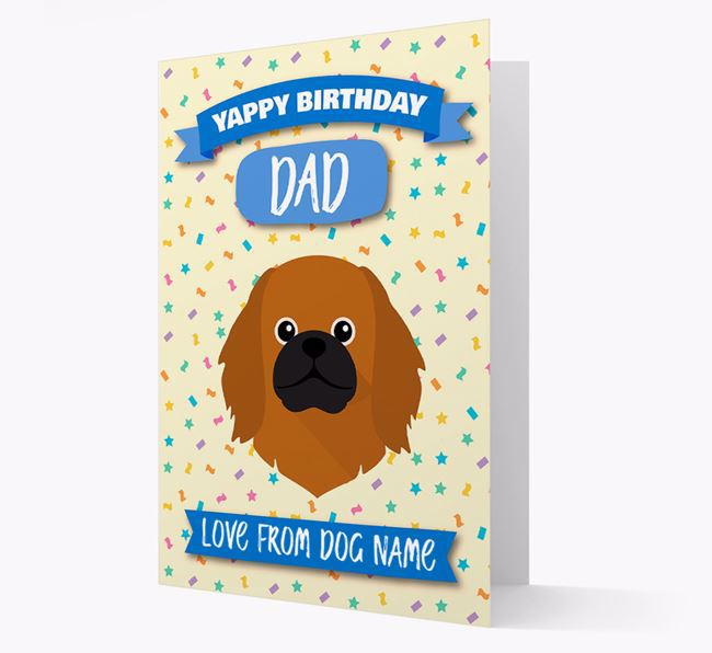 Personalized Card 'Yappy Birthday Dad' with Pekingese Icon
