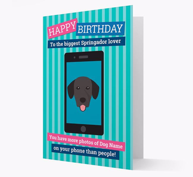 Personalised 'You have more photos of ' Birthday Card