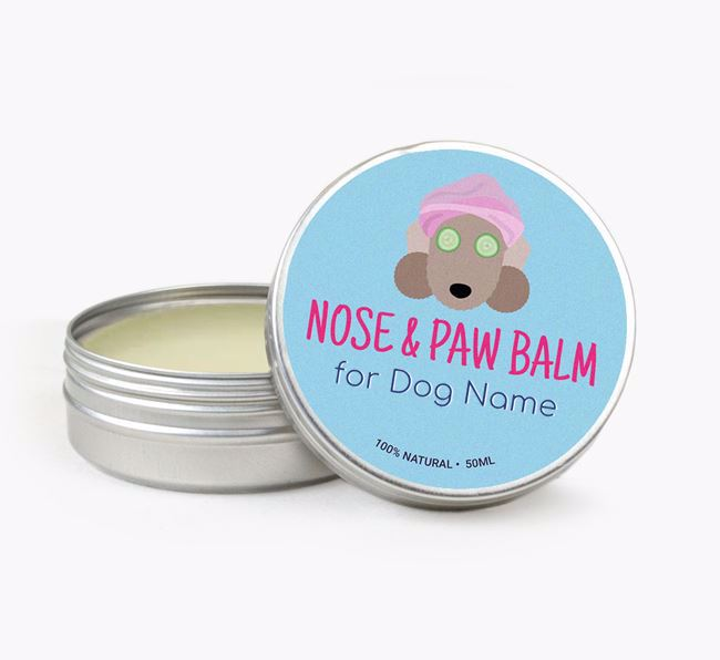 Personalised Nose & Paw Balm for your Bedlington
