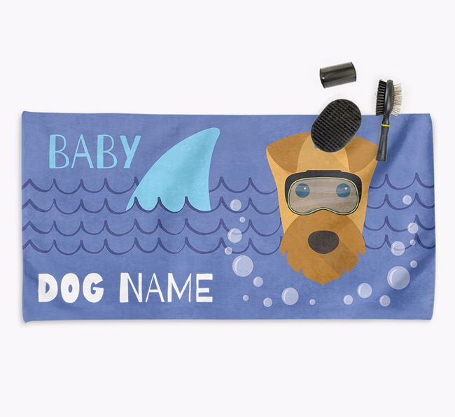 'Baby Shark' Personalised Towel for your Airedale