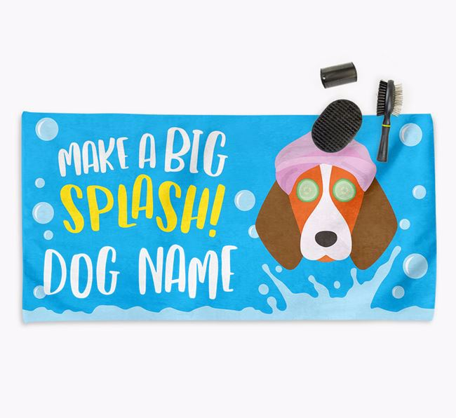 Personalised 'Make a BIG Splash' Towel for your Beagle