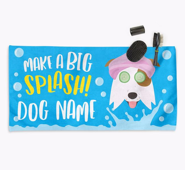 Personalised 'Make a BIG Splash' Towel for your Border Collie