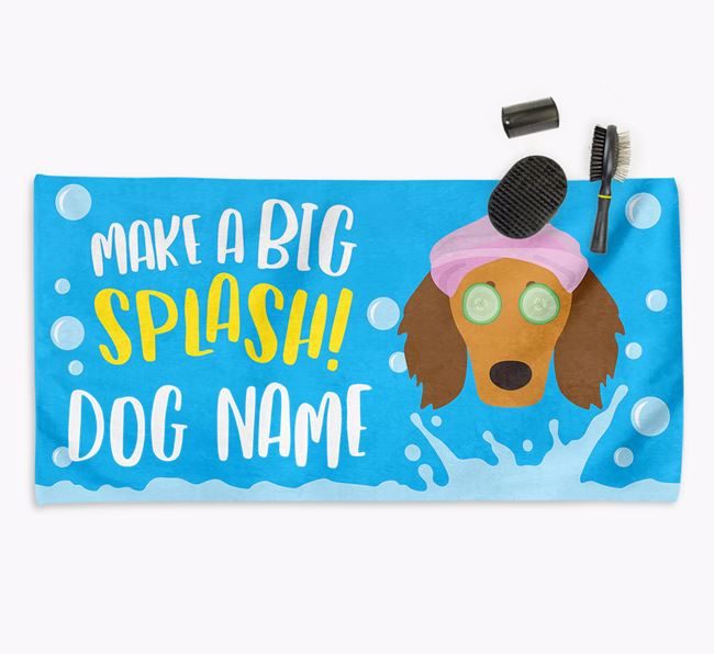 Personalised 'Make a BIG Splash' Towel for your Doodle