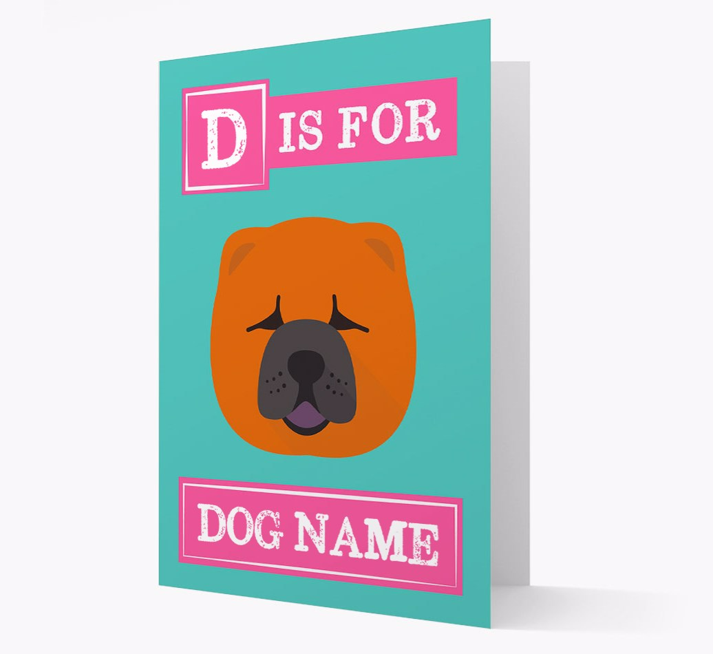 Personalized 'Letter and Name' Card with {dogsName}