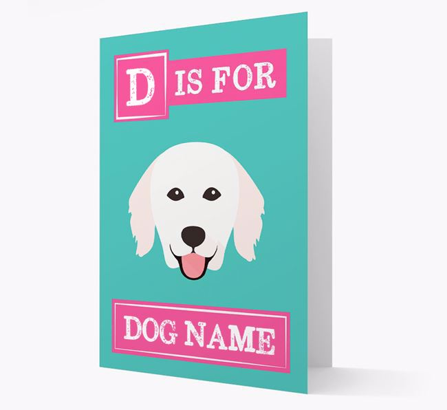 'Letter and Name' Card for your Hungarian Kuvasz