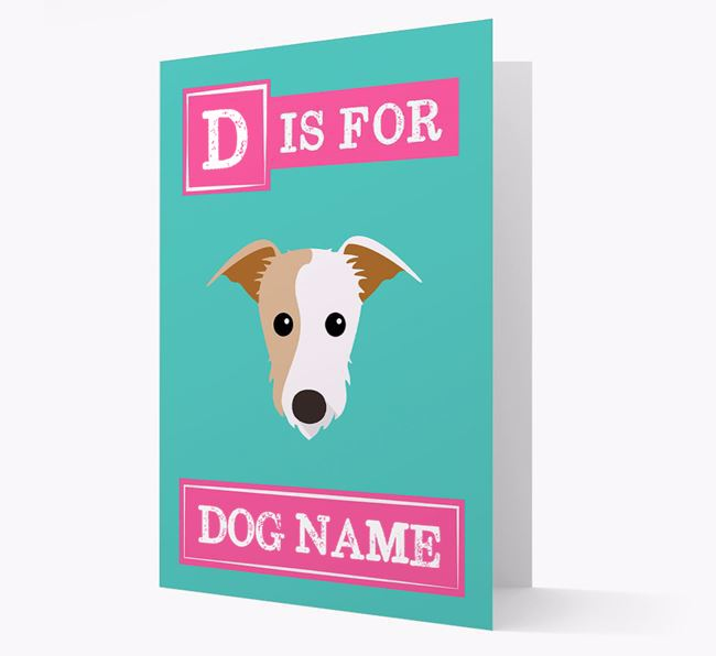 'Letter and Name' Card for your Lurcher