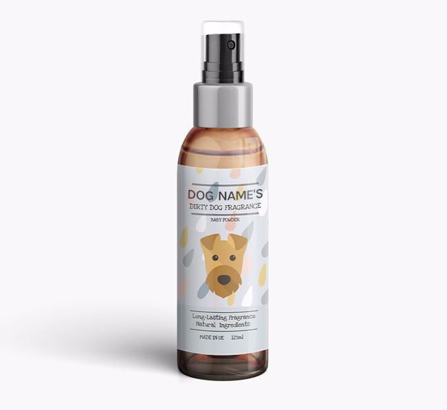 Personalised 'Dirty Dog' Fragrance for your Airedale Terrier
