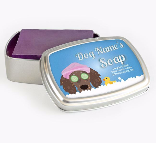Personalised 'Bath Time' Soap Tin for your Doxiepoo