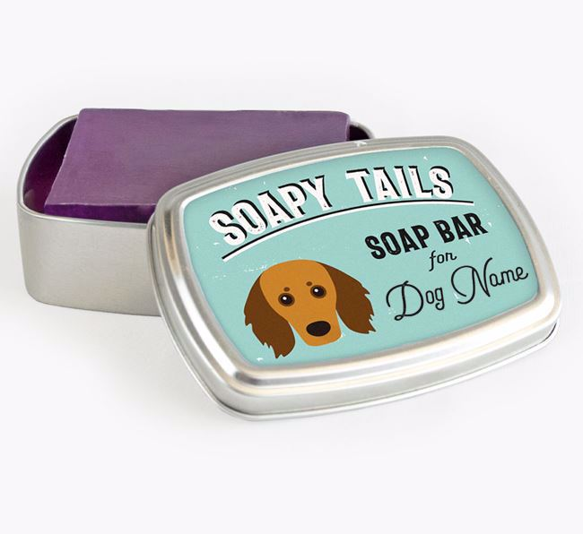 Personalised 'Soapy Tails' Soap Tin for your Doxiepoo