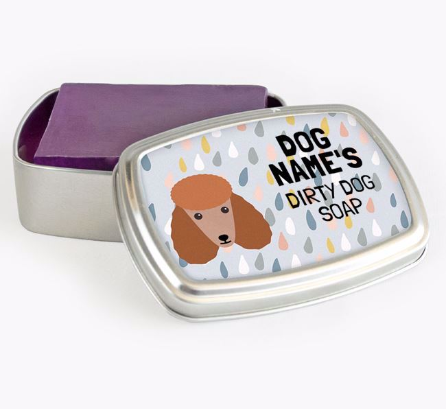Personalised 'Dirty Dog' Soap Tin for your Poodle
