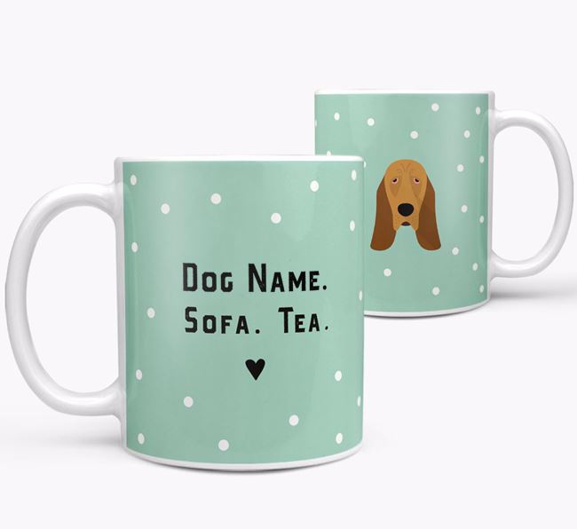 Personalised 'Sofa & Tea' Mug for your Bloodhound