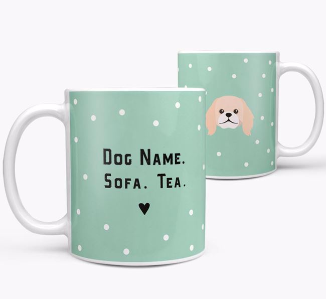 Personalised 'Sofa & Tea' Mug for your Pekingese