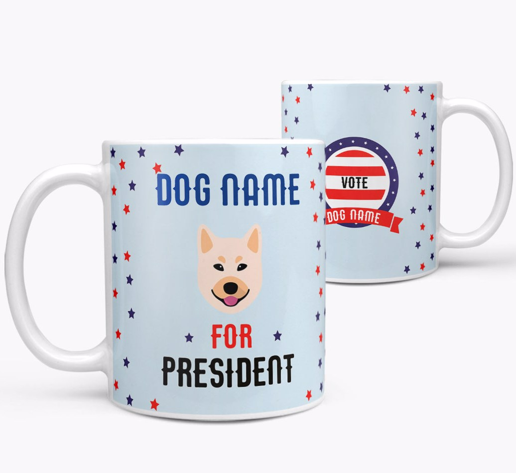 Personalized 'Better President' Mug both views